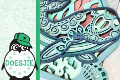 Whale SVG layered multi layer mandala sea animal nautical Product Image 5