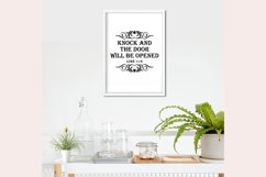 Knock and the door will be opened SVG - Religious quotes SVG Product Image 3