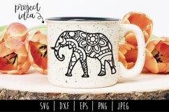 Elephant Mandala Zentangle Bundle Set of 4 - SVG Product Image 6