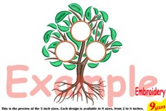 Family Tree Circle Embroidery Design Machine Instant Download Commercial Use digital Outline family love Frame Deep Roots Branches 207b Product Image 4