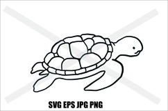 Sea Turtle - SVG EPS JPG PNG Product Image 1