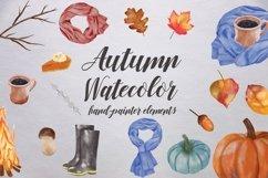 Watercolor Autumn Elements Product Image 1