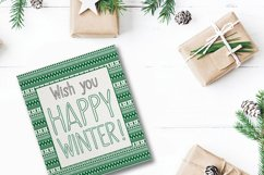 SNOWLAND - hand drawn winter font Product Image 2