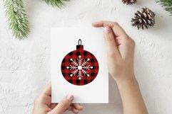 Buffalo Plaid Christmas ball SVG, Buffalo Plaid PNG DXF EPS Product Image 3