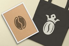 Coffee beans and cups silhouettes and icons bundle Product Image 2