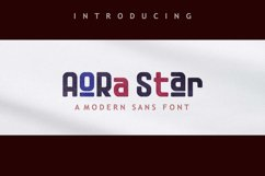 Aora star Font Product Image 1