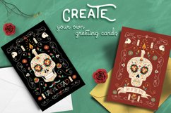 Hand Drawn Day of the Dead Set: skull party! Product Image 2