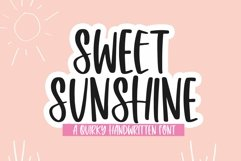 Web Font Sweet Sunshine - A Quirky Handwritten Font Product Image 1