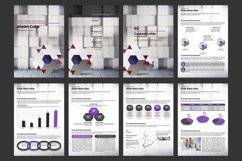 Violet Cube PPT Template Vertical Product Image 2