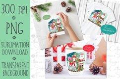 Santa and Llama PNG Christmas Sublimation Design Product Image 2