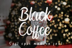 Black Coffee   Modern Calligraphy Product Image 1