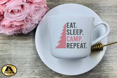 Camping SVG PNG EPS DXF Eat Sleep Camp Repeat SVG Camper SVG Product Image 6