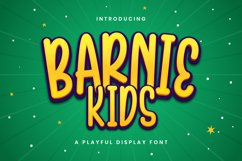 Barnie Kids - Playful Display Font Product Image 1