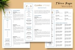 Teacher Resume CV Template for Word & Pages Clara Stone Product Image 4