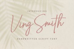 Ving Smith - Handwritten Font Product Image 1