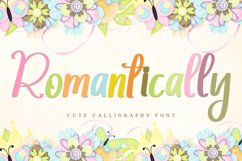 Romantically   Cute Calligraphy Font Product Image 1