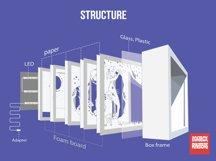 #17 Deer Spirit, 3D Shadow box paper cut lightbox Product Image 5