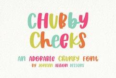 Chubby Cheeks, Thick Handwritten Sans Serif Font Product Image 1