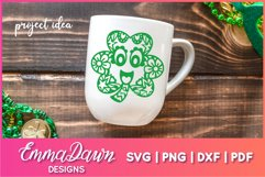 CONNY THE CLOVER SVG St Patrick's Day Zentangle Design Product Image 4
