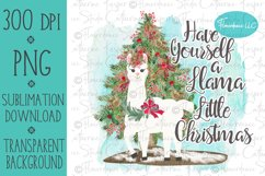 Llama PNG Christmas Sublimation Design Product Image 1