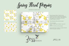 Spring Floral Poppies | Digital paper paper designs|Patterns Product Image 4