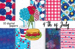 4th of July PATTERN Independence Day Stickers - JPEG files Product Image 1