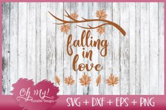 Falling In Love - SVG DXF EPS PNG Cutting File Product Image 1