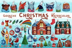 Christmas gouache and watercolor set Product Image 1