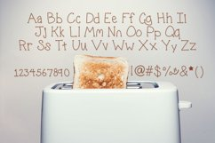 Zucchini Toast, A handwritten fun font with extras Product Image 2