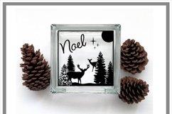 Glass Block Winter Forest Scene Christmas Deer SVG Product Image 2