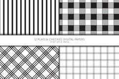 Plaid Digital Paper, Buffalo Plaid Scrapbook paper, check Product Image 4