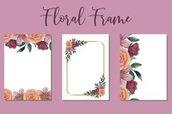 Beauty Frame Watercolor Wedding Invitation Template Design Product Image 1
