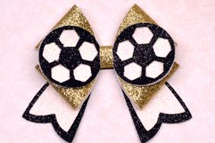 6 Sport Hair bow template SVG, Faux leather bow Cricut file Product Image 7