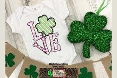 LOVE Pink St Patrick's Day Dye Sublimation PNG Design Product Image 5