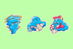 Cloud Sticker illustrations Product Image 1