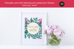 """Premade card """"love you, mom"""" for mothers day. JPG Product Image 3"""