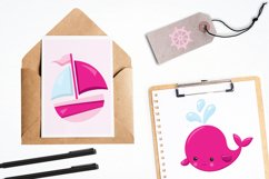 Nautical Whales graphics and illustrations Product Image 4