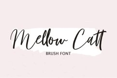 Mellow Catt   Brush Script Font Product Image 1