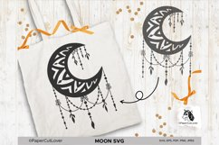 Moon SVG Crescent Moon SVG Half Moon Paper Cut Boho Svg Product Image 6