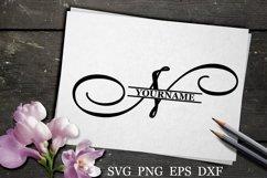 N Split monogram SVG Split letter svg Monogram font Product Image 1