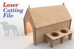 PUPPY HOUSE - laser cutting file Product Image 1