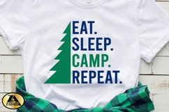 Camping SVG PNG EPS DXF Eat Sleep Camp Repeat SVG Camper SVG Product Image 4