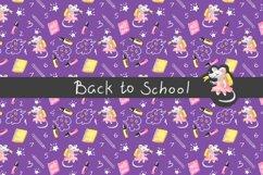 Back to School Digital Paper, School girl paper Product Image 5