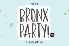 BRONX PARTY Hand Lettered Sans Font Product Image 1
