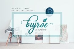Glossy Font Product Image 4