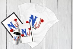 State abbreviation. USA sublimation. New Jersey Product Image 4