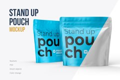 Zip Stand-up Pouch Mockup square Product Image 1