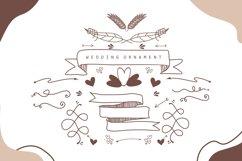 Couple Monogram Font & Wedding Ornament Product Image 4