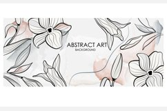 Vector banner with gold flowers Product Image 5