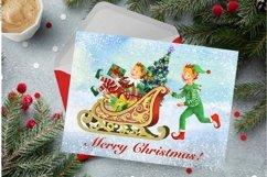 Elf kit watercolor,Christmas clipart,Santa's Helpers Png,jpg Product Image 5